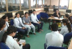Group discussion at NIT, JIS Group